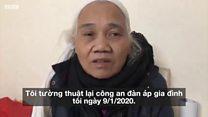 Vợ ông Lê Đình Kình, bà Dư Thị Thành kể lại vụ việc công an vào Thôn Hoàng sáng 9/1