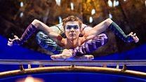 Circus performer's body-bending tricks