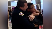 Boy lifted off floor in police chokehold