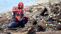 Spiderman Parepare, 'pahlawan super' pembersih sampah
