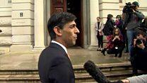 Sunak arrives at Treasury
