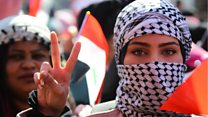 عراقيات يتظاهرن في بغداد ومدن الجنوب