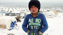 Syria displaced forced to camp in freezing weather