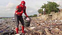 Человек-паук против мусора