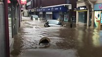 Storm Dennis: South Wales under water as floods hit