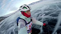 Russia's endurance race on an icy lake