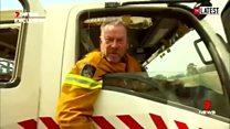 Australian firefighter's viral outburst at PM