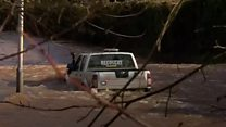 'Rescue truck' finds itself in deep water