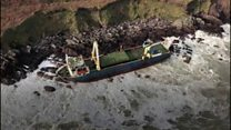 The 'ghost ship' washed up in Cork