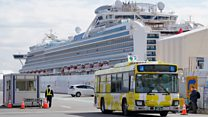 Quarantined passengers released from Japan ship