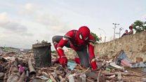 """سبايدرمان في """"مهمة بيئية"""" في إندونيسيا"""