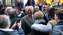 Prince Charles visits flood victims