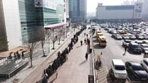 Drone captures massive mask queue in S Korea