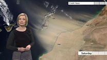 What caused the Canary Islands sandstorm?