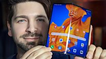 Hands-on with Huawei's folding phone