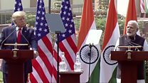 Trump and Modi hail defence deal and shared values