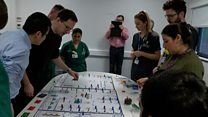 A&E staff practise with 'crisis' board game