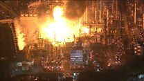 Fire at the largest oil refinery on the West Coast