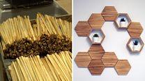 Making chopsticks into house furnishings