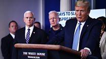 Trump tells Americans to avoid public spaces