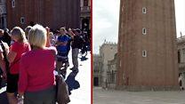 对比疫情前后的威尼斯 居民终可欣赏水乡风貌