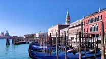 Coronavirus: Venice's canals clearer after lockdown
