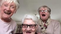 The three grandmothers self-isolating together
