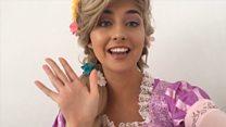 Rapunzel sends children videos to spread happiness