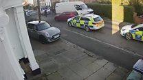 Driver rammed vehicles in escape bid
