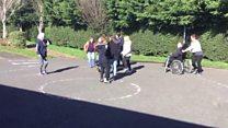 Final-day pupils start playground disco