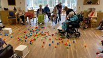 Care home plays life-size Hungry Hungry Hippos