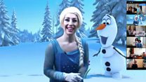 Coronavirus: Frozen-themed birthday held on chat app