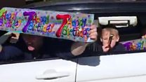 'Drive-by' 7th birthday party held for boy
