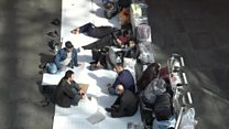 Migrants stranded in Moscow airports