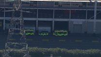 Ambulances arrive at ExCel centre