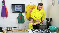 Dad starts live cooking show to entertain children