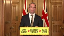 Raab announces scheme to fly stranded Brits home