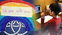 Italian pupils' messages of hope for Scottish children