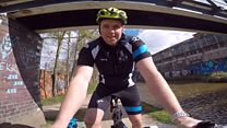 Cyclist films rides to boost self-isolators