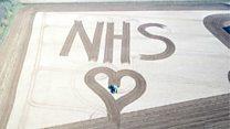 Farmer's 50m-high NHS field tribute