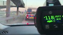 Speeding on London's empty roads