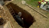 'I'm digging graves for people who are still living'