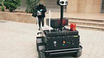 Click News: Robot car enforcing lockdown