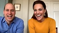 William and Kate video call key workers' children