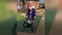 The 99-year-old war veteran raising money for NHS