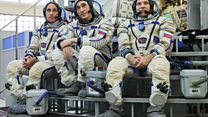 Astronauts arrive at ISS after long quarantine