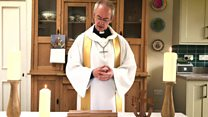 Archbishop delivers Easter message from kitchen