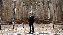 Italian tenor Bocelli sings at empty cathedral