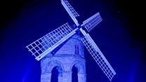 Coronavirus: Windmill lit up for the NHS