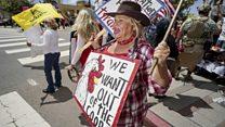US protests over coronavirus lockdown